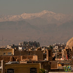 View of Kashan Against Mountains - Iran