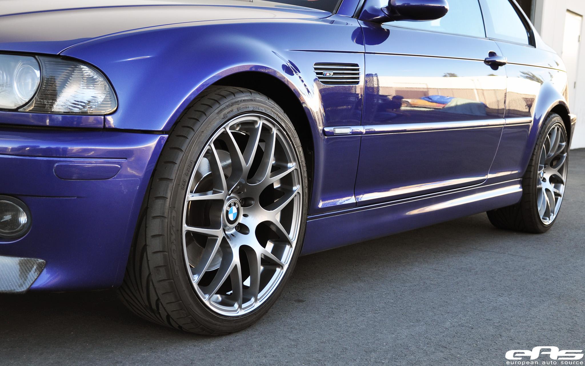 Velvet Blue Metallic E46 M3 On Gunmetal Vmr V710s Bmw