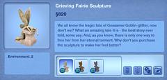 Grieving Fairie Sculpture