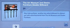 The Art Museum and Desire Furniture Double Billboard