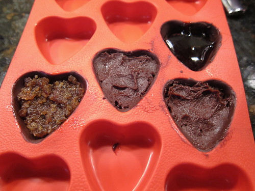 Filled Chocolate Hearts