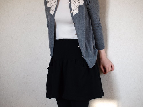 Yoked Skirt with Pockets