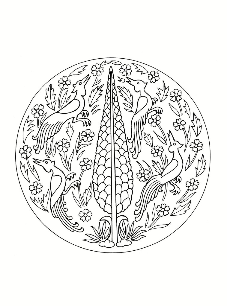 East Asian Designs - bird roundel