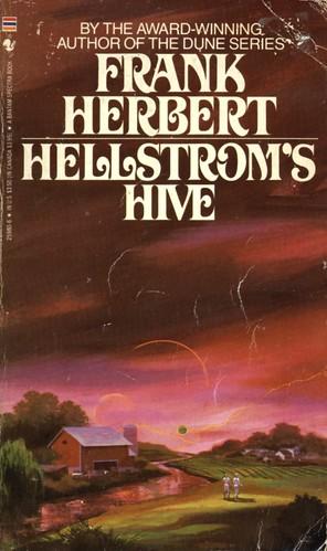 Hellstrom's Hive by Frank Herbert. Bantam 1986. Cover artist Paul Lehr