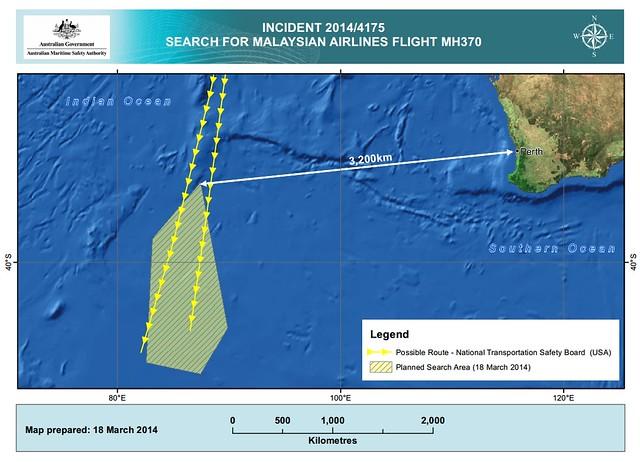 MH370 AMSA Au search