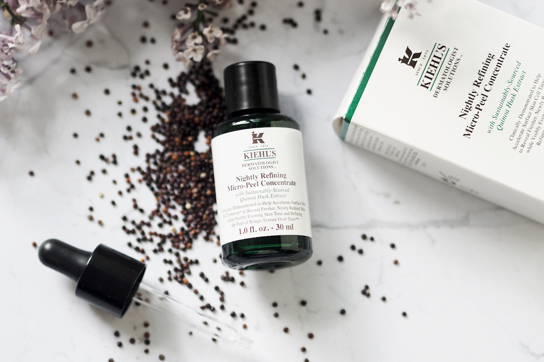 kiehl's quinoa Nightly Refining Micro-Peel Concentrate overnight peeling anti-aging effect beauty beautyblogger cats & dogs blog ricarda schernus modeblogger 5
