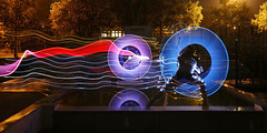 Light Painting Photography - Lightman Fighting