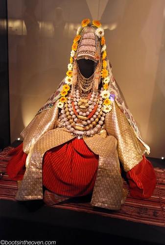 A Yemenite Jewish bride's costume