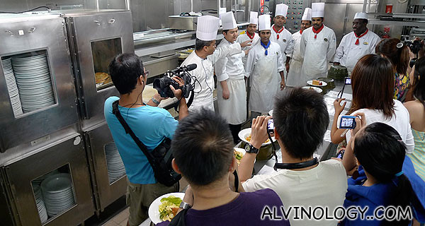 Meeting all the kitchen chefs