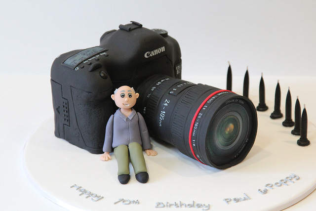 Canon DSLR 5D Camera cake - Made for a retired photographer ...