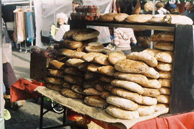 Woodfired bread at Salamanca Markets in Hobart