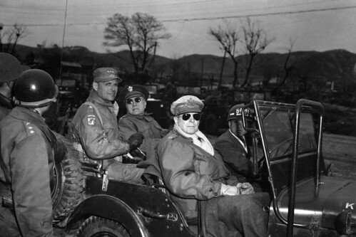 General MacArthur in Jeep M38 by lee.ekstrom