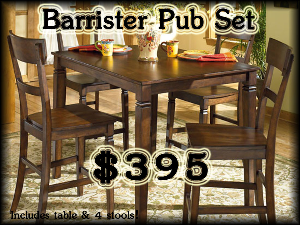 Barrister Counter  Height Dinette Set