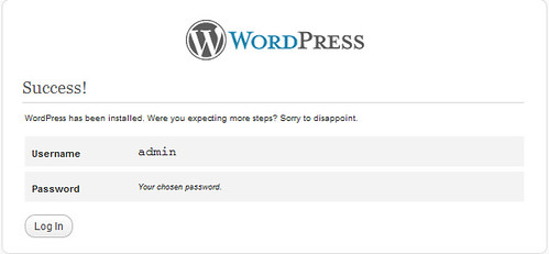 Hoàn thành cài đặt  WordPress lên máy tính
