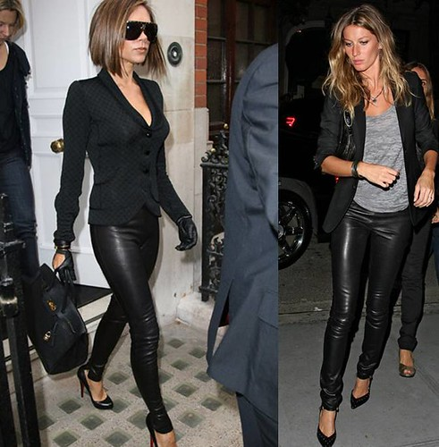 Victoria-Beckham-Gisele-Bundchen-leggings-cuero