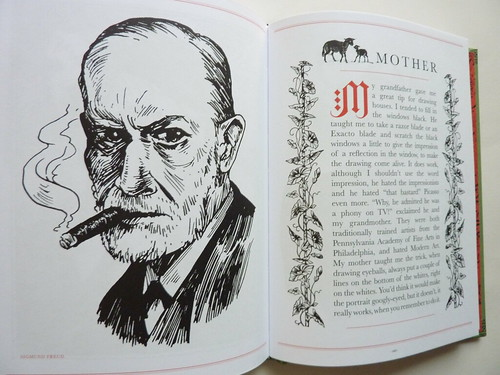 500 Portraits by Tony Millionaire - pages (Sigmund Freud)