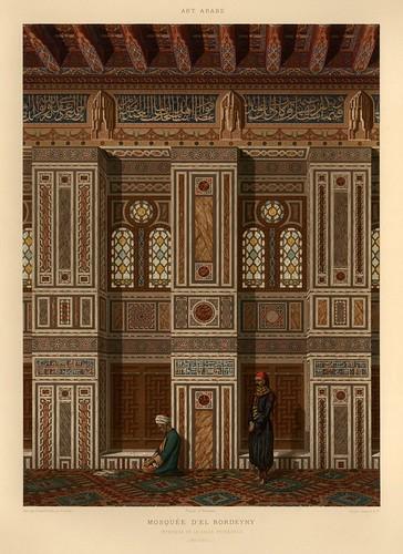 004-Mezquita de El Burdeyny-L'art arabe d'apres les monuments du Kaire…Vol 1-1877- Achille Prisse d'Avennes y otros