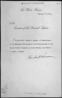 Message of President Herbert Hoover nominating Andrew W. Mellon of Pennsylvania to be Ambassador Extraordinary and Plenipotentiary of the United States to Great Britain, 02/05/1932