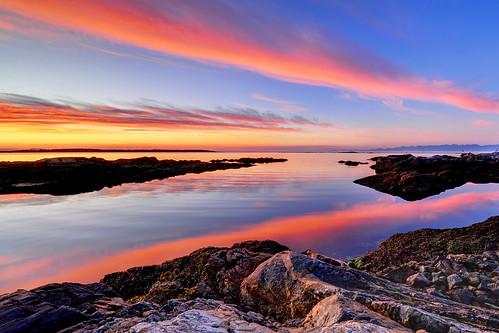 morning red canada water sunrise coast rocks bc britishcolumbia victoria vancouverisland shore westcoast secretbeaches nikond700 northernstraitsphotography