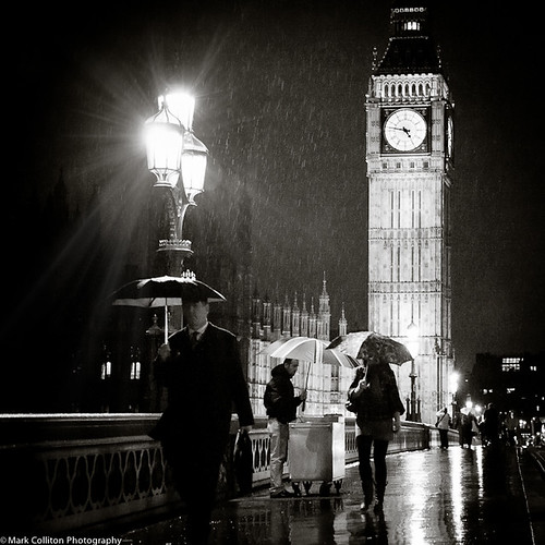 December Rain, Westminster Bridge, London UK