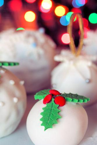 Christmas sponge cake balls 3473 R