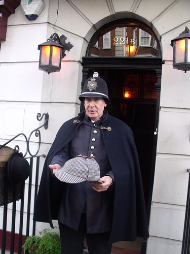 The Sherlock Holmes Museum - 221b Baker Street, London - Victorian Policeman