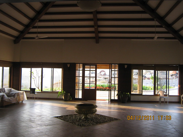 Lounge of the club house - Visit to Paranjape Schemes' Forest Trails, Bungalows, 2 BHK & 3 BHK Flats at Bhugaon, Pune 411 042