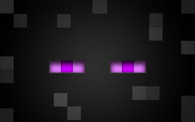 Minecraft Enderman desktop background {purple eyed ...