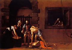Beheading of Saint John the Baptist, by Caravaggio (1608) - approx. 12 x 17 feet.