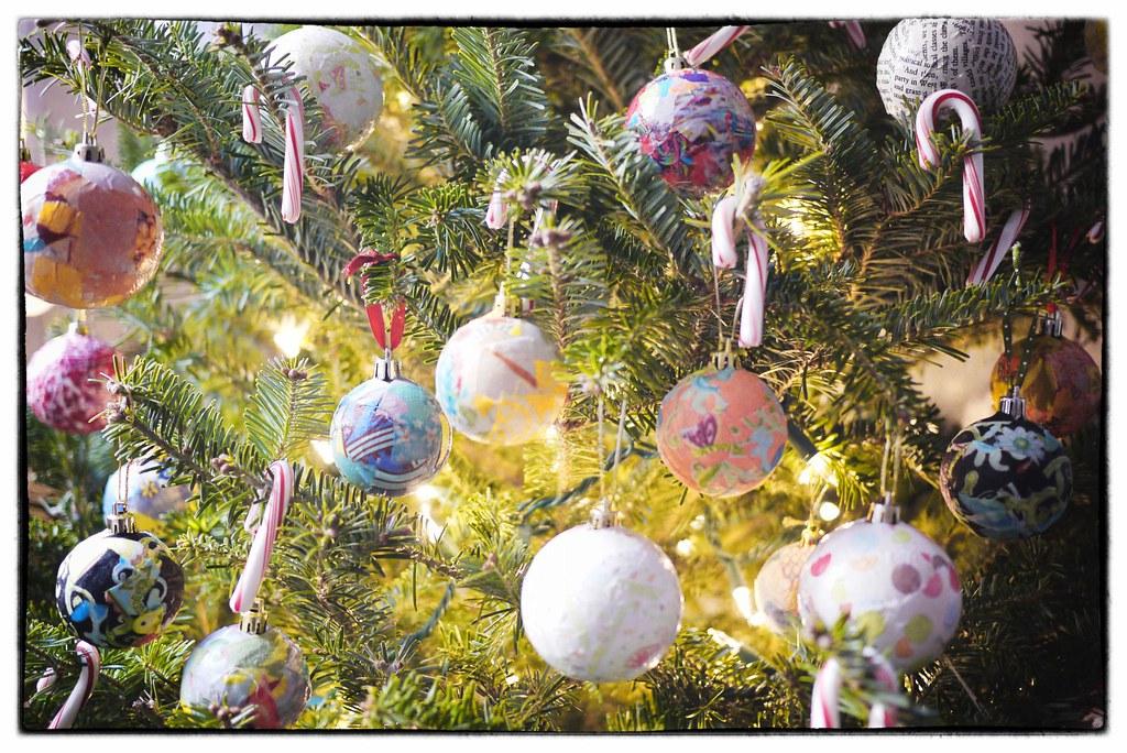 Fabric Decoupaged Ornament