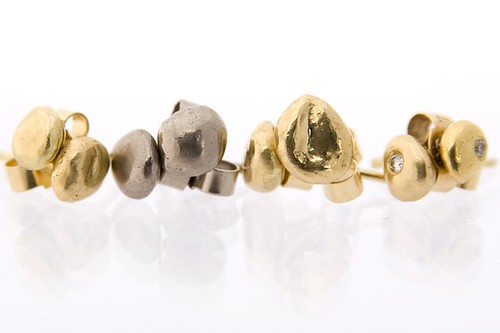 Natasha Collis fine jewellery, nugget studs