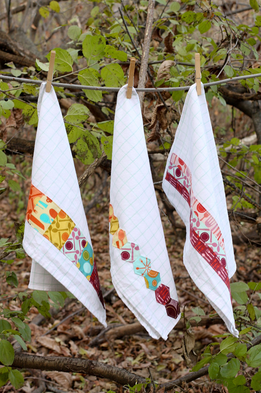Fabric Embellished Dish Towels Tutorial - In Color Order