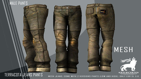 .:REBORN:. Terracota Jeans Pants Male (BOX), 450 lindens by Cherokeeh Asteria
