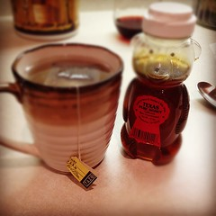 Late night tea with real honey.