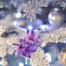 purple and blue and silver and white christmas tree