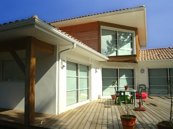maison en bois contemporaine moliets landes aboxia. Black Bedroom Furniture Sets. Home Design Ideas