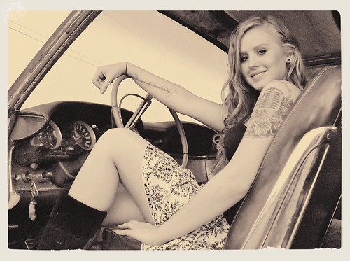 Girl in T-Bird