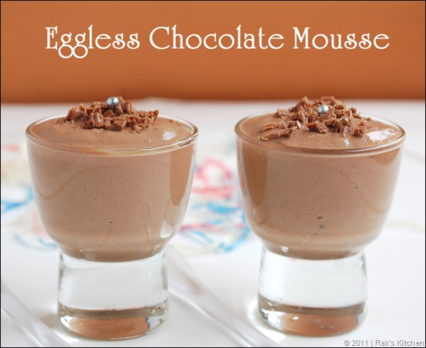 Cake Recipes With Gelatin: Eggless Chocolate Mousse Recipe (Without Gelatin)