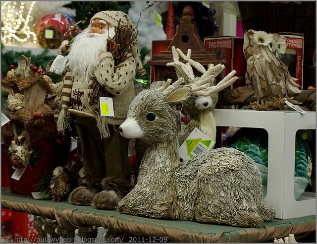 Święty mikołaj, reniferek i inne świąteczne