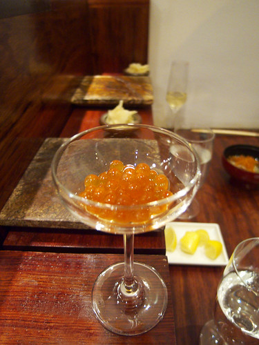 15 East - House marinated Salmon Roe