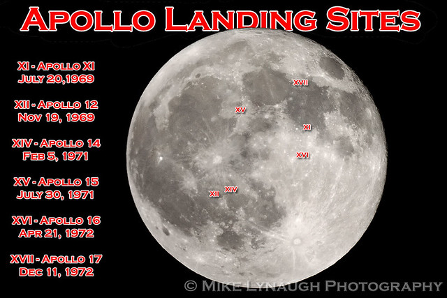 location moon map landing site apollo 12 - photo #1