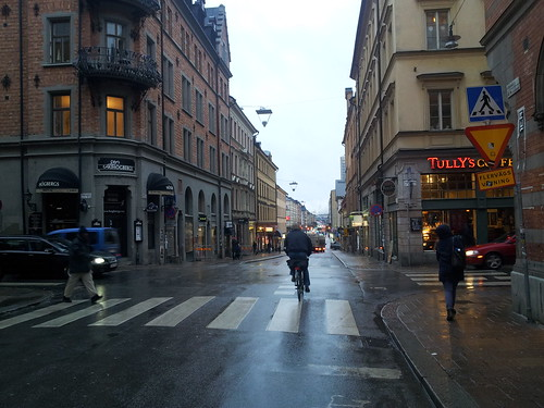 Four way crossing @ Götgatan Stockholm