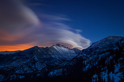 Lenticular Clouds Over Longs Peak