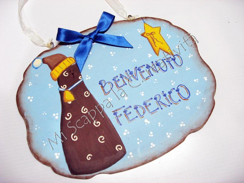 Targhetta di nascita per dare il benvenuto a Federico 6505101889_70aa61ca66_b