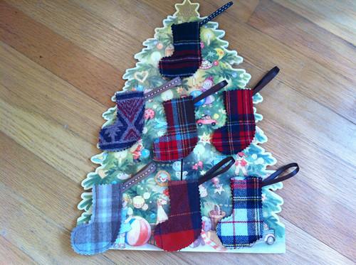 tiny stocking ornaments