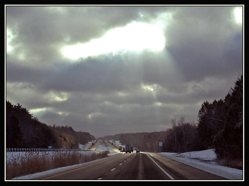 light sky sun skyscape traffic illuminated turnpike heavens heavenly illuminate lumens