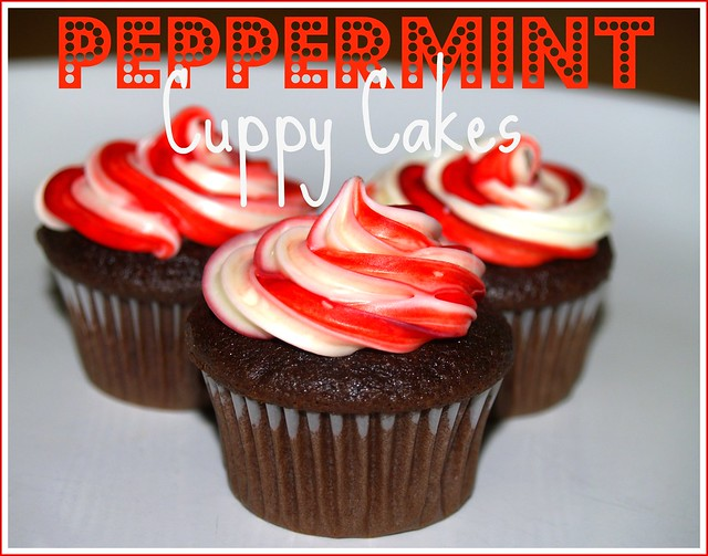 Peppermint Cuppy Cakes