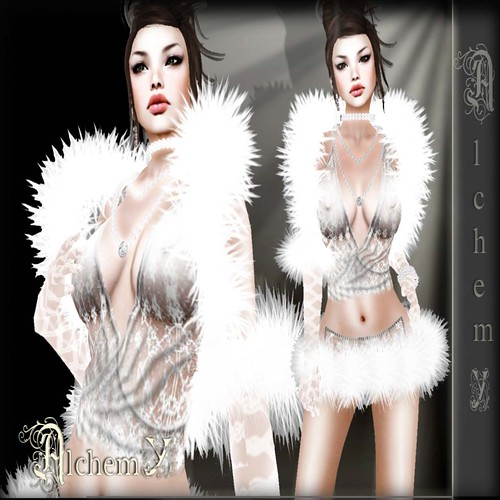 Alchemy - Snow lace dress gift (Group Gift) by Cherokeeh Asteria