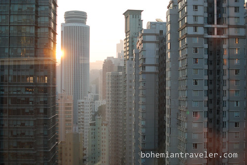 Hong Kong from the 31st floor of the JW Mariott