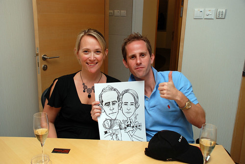 caricature live sketching 2011 Formula 1 RR Donnelley Party - 10